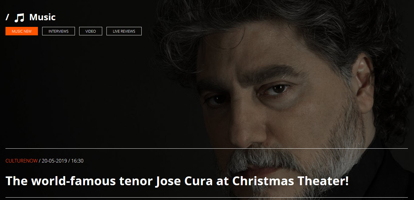 Concert at the Christmas Theater in Athens, starring José Cura.